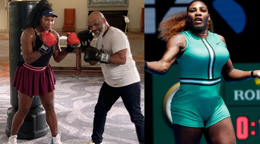 Serena Williams' preseason training included a boxing lesson from Mike Tyson