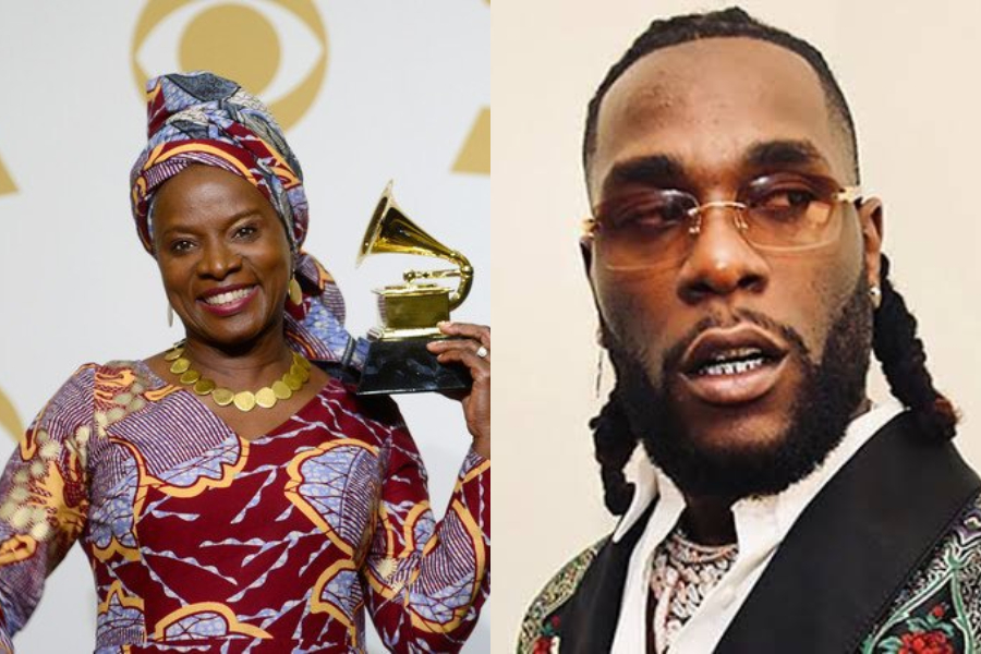 WATCH The Moment Angelique Kidjo Dedicated Her Award To Burna Boy At The  Grammy Awards