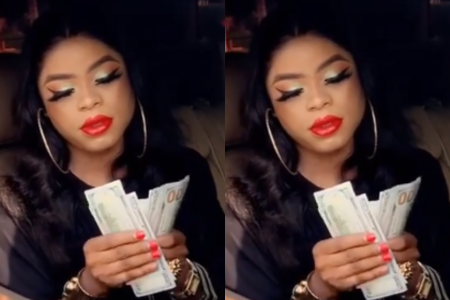 I'm Now A Billionaire' - Bobrisky Says As She Flaunts Bundles Of ...
