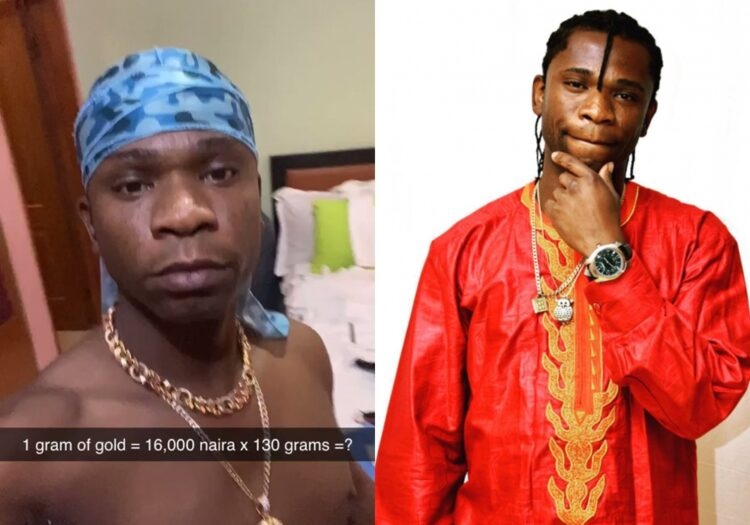 Speed Darlington Shows Off His 2m Naira Gold Chains In New Video