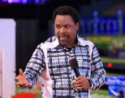 Prophet T.B Joshua speaks for the first time after failed