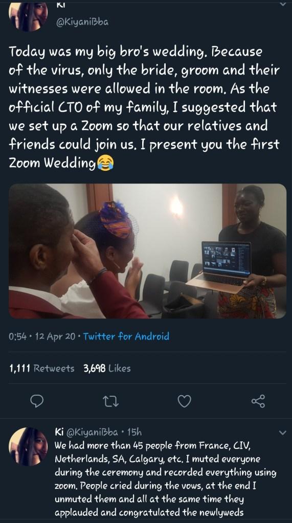 wedding on zoom app