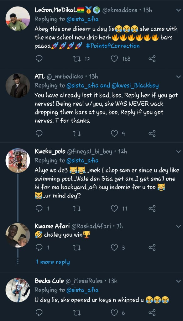 Twitter Users Roasts Sista Afia For Trying To Claim The Beef Winner - Screenshots 3