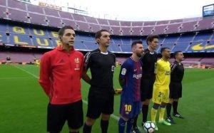 """Barcellona-Las Palmas di ieri si è giocata """"a porte chiuse"""" (immagine via Twitter)"""