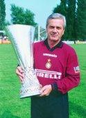 Simoni con la Coppa Uefa