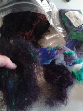 Black Sari silk and finer Camaj dyed mulberry silk