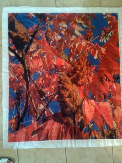 Printed on quilting fabric 80 x 110 inches