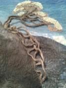 Detail of Pohutakawa tree (Kahika) and roots (steps)