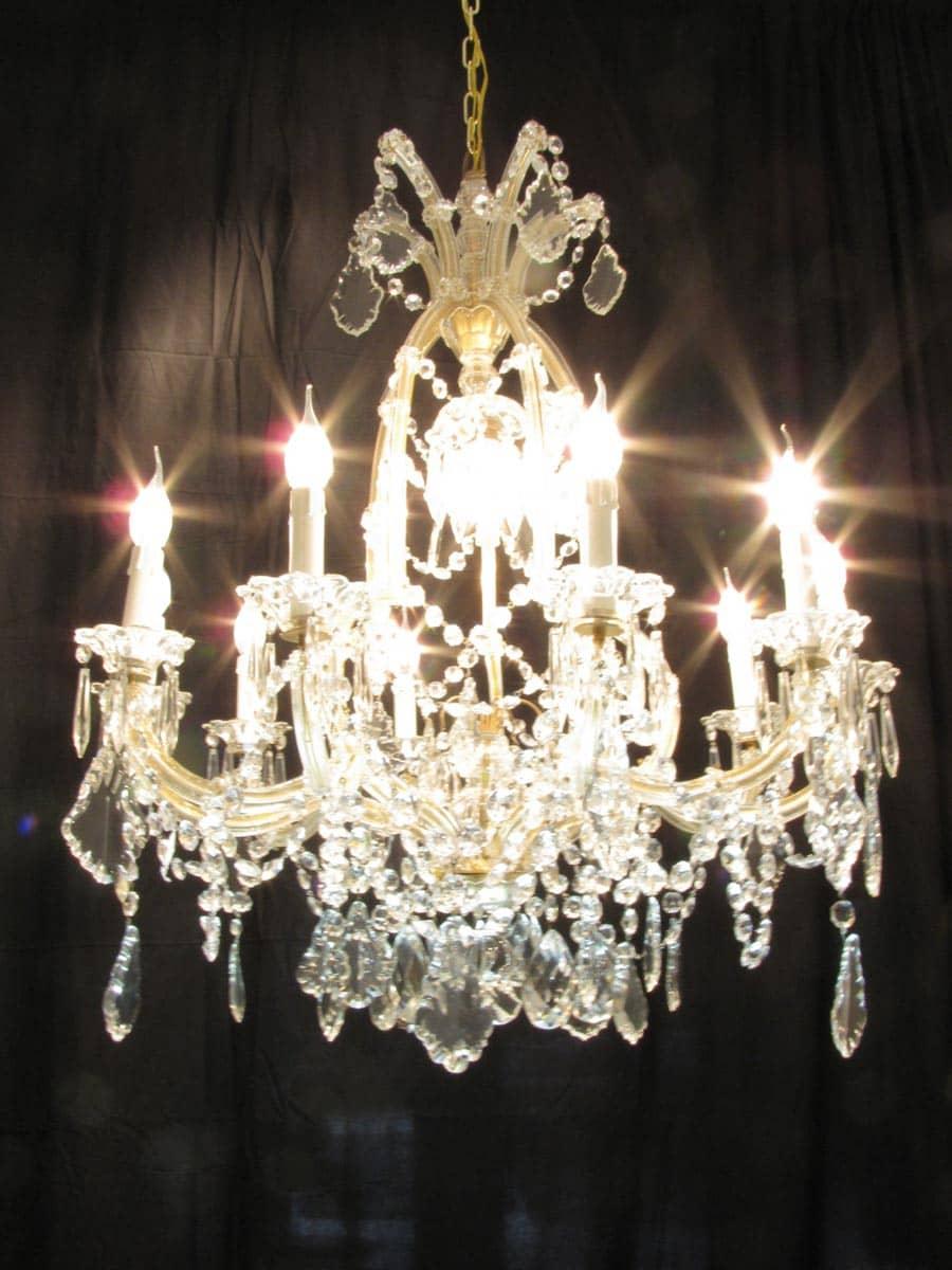 lampadario mongolfiera impero con gocce di cristallo di boemia. Lampadario In Cristallo Di Boemia Maria Teresa 11 Luci