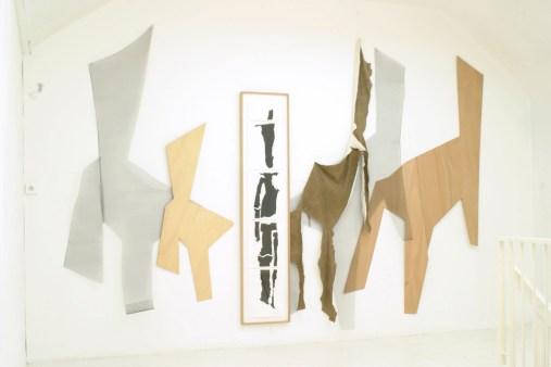 Cortège des transfigurations et des déchéances, vue d'exposition, Yvetot