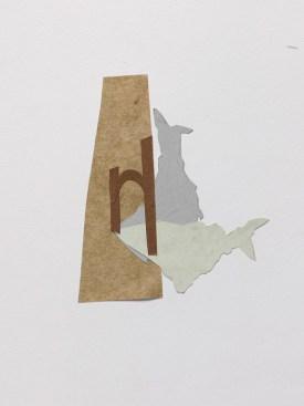 2018 Collage préparatoire ombres doubles 30 x 24 cm