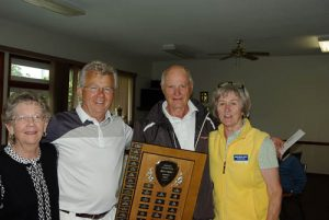 2016 Corby Pairs Winners Marty, Al Thompson, Robin Hittos and Andy