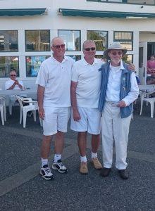 2016 Men's Quaddie Third Place Dennis Verge, Mel Forster (Victoria LBC), Svend Klausen. Jim McClennan not in picture.