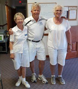 2016 Anniversary Triples 2-game Winners Mary Howarth, Al Thompson and Angela Tessaro