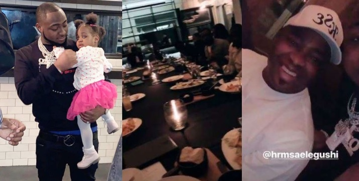 Image result for Photos from Davido's birthday dinner with his family in the United States