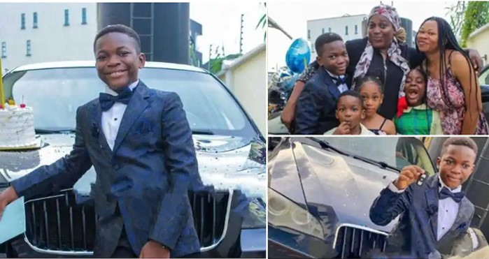 Boy receives BMW car as 10th birthday gift from his mum