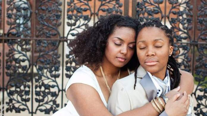 26 year old lady weds her own mother in a grand style lesbian partner