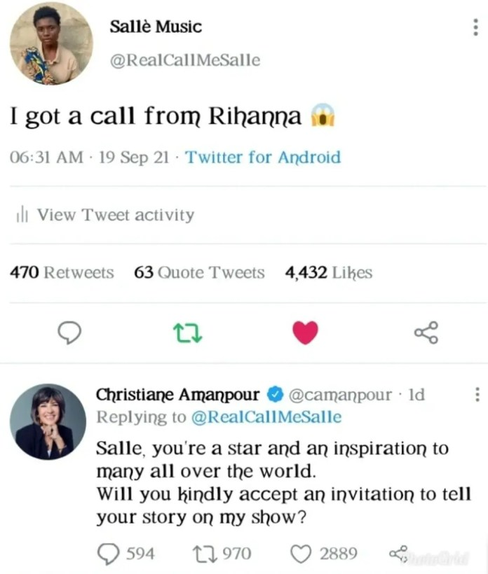 Salle 17 Year Old Talented Singer Is Invited For An Interview By CNN
