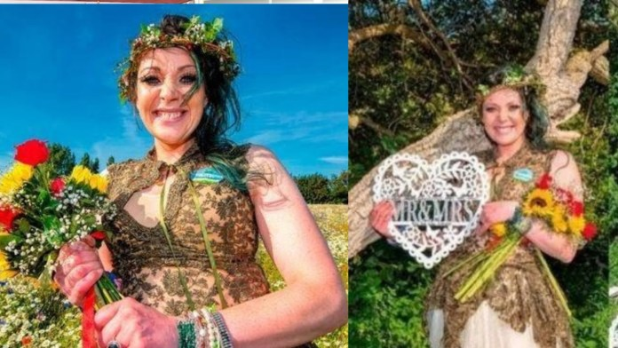 woman got married to a tree