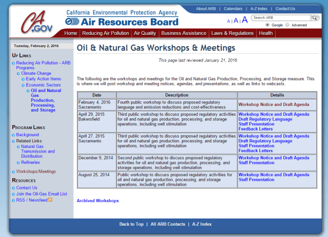 ARB oil and gas workshop