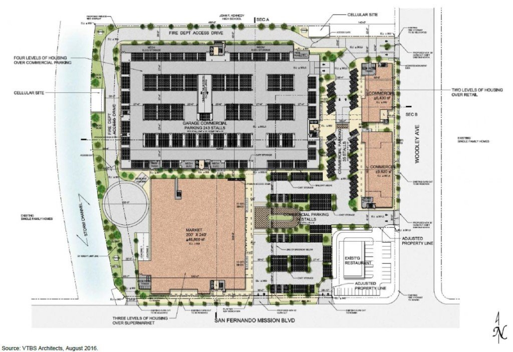 Site plan for the Woodley & San Fernando Mission Project (Image: LADCP)