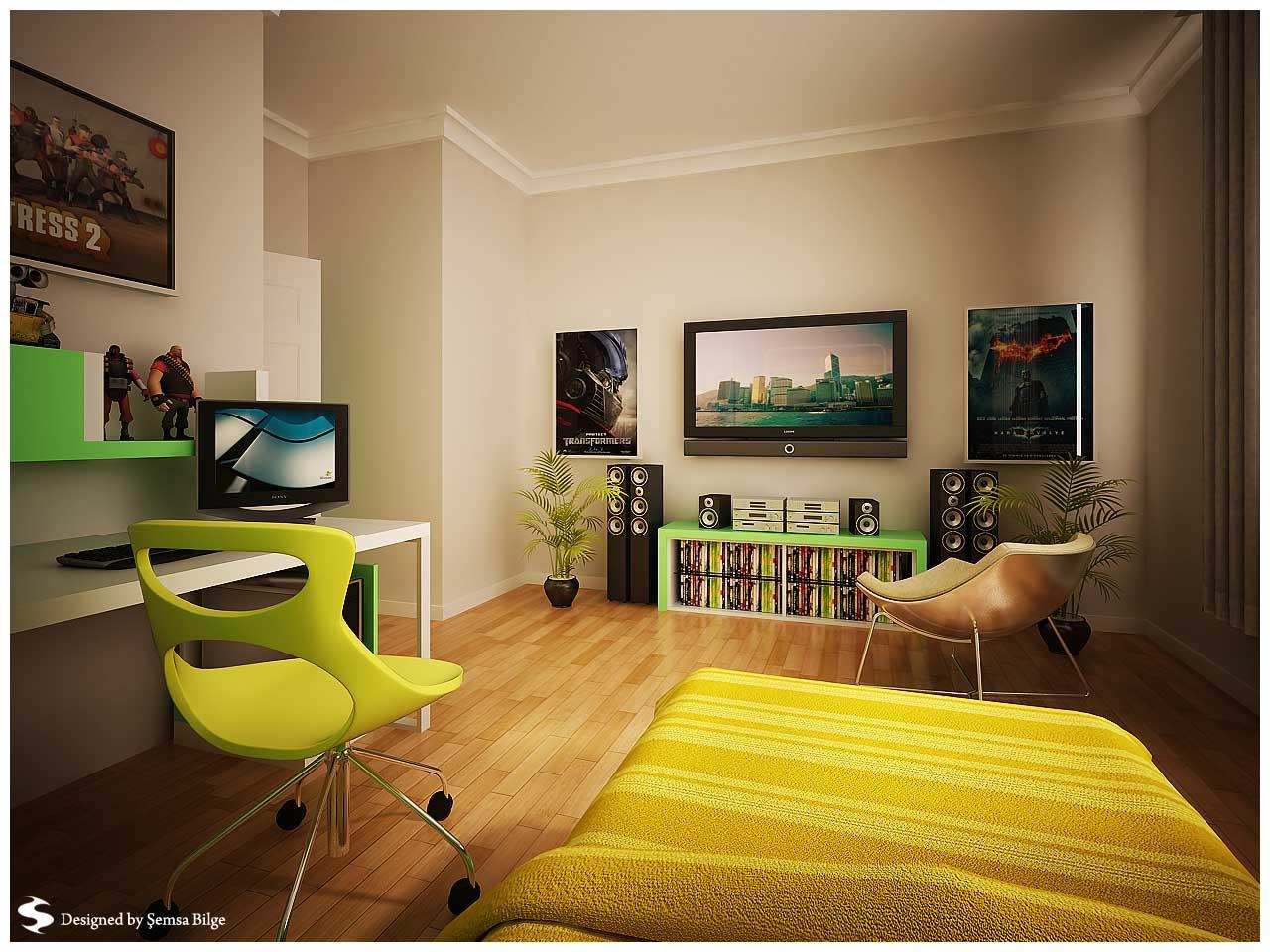 Minimalist Teen Room by Semsa - Interior Design Ideas on Teen Room Design  id=36987
