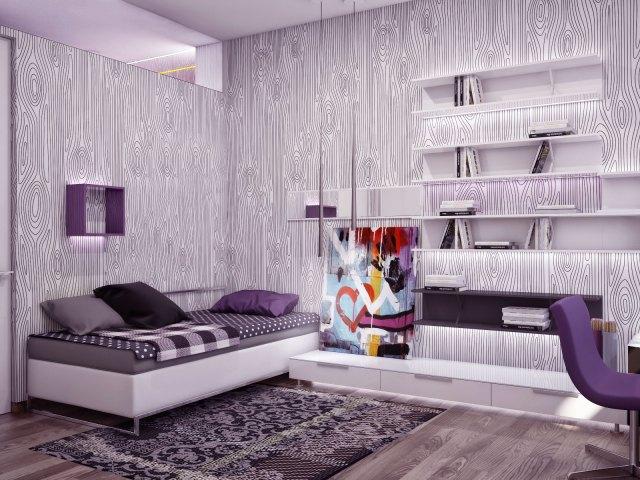 Modern Bedroom with Monochrome Color Scheme Ideas ...