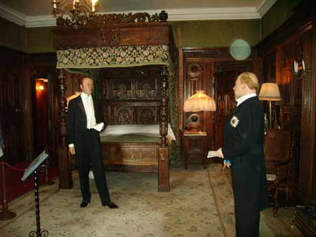 A photo containing orbs taken at Warwick Castle