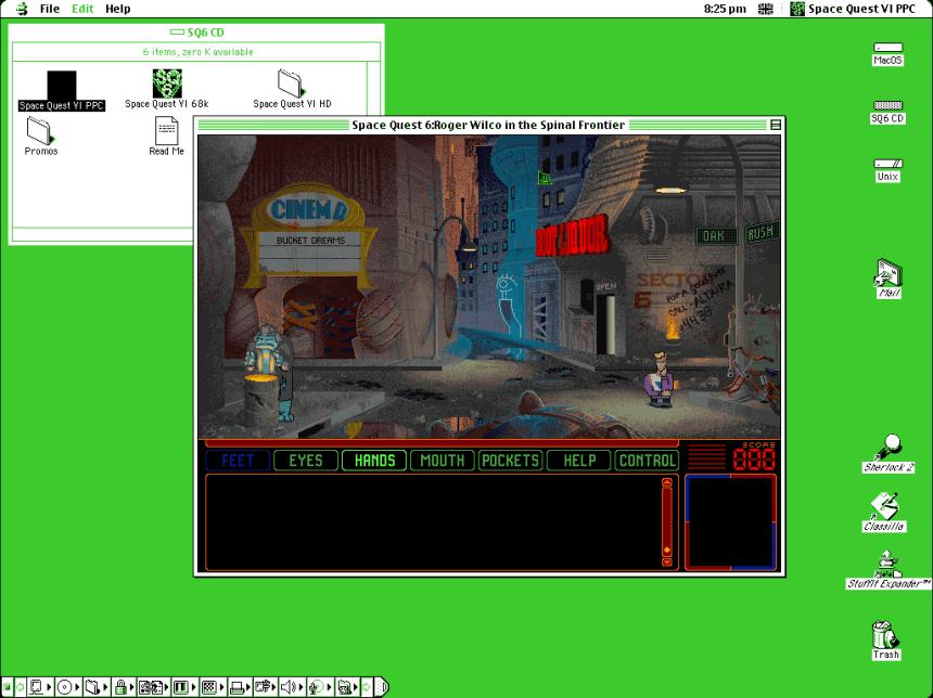 Classic Mac Emulation On macOS - Space Quest VI - OS 9 - Sheep Shaver