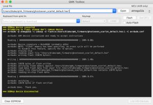 Mechanical Keyboard Prototype - QMK Toolbox Flash Firmware