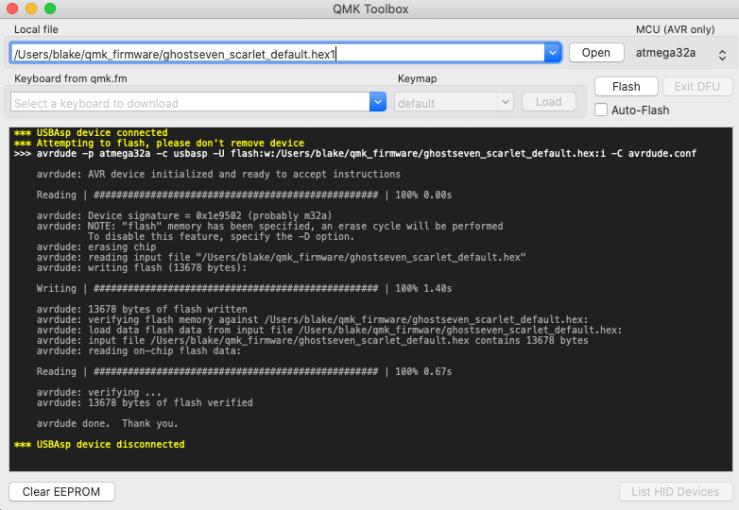 QMK Toolbox Flash Firmware