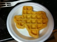 If you get breakfast at the Super8 (Lakeside Exit) in Amarillo, Texas, this is the shape of the waffles they provide. Pretty cool, actually.
