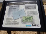 One of the placards that provide background information for an old airmail service route arrow just off I80.
