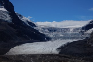 The Athabasca Glacier in Jasper Park.