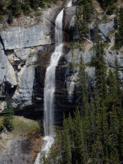 A waterfall east of a overlook in Banff National Park.