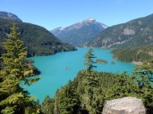 An overview of Diablo Lake.