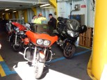 Ferry masters love to cram bikes into places where a car won't fit.