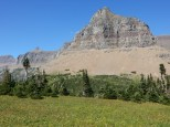 A view from behind the visitor center in Glacier NP.