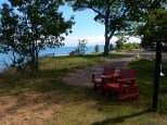 A few benches with a nice view of Lake Superior, from McLains State Park.