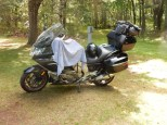 Packing up the Nightowl at McLain State Park. Hoping that towel dries quckly.