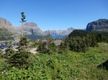 A view from the front porch of the Glacier NP visitor center.