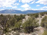 A view of the Collegiate Peaks from the rise east of Buena Vista.
