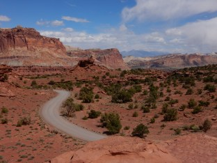 A view west from Panoramic Lookout in Capitol Reef NP.