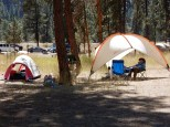 Afternoon siesta time at the Hot Springs campground in the Boise National Forest. Afternoon siesta time at the Hot Springs campground in the Boise National Forest.