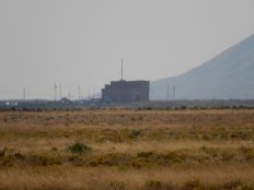 The shimmering desert heat distorts this closeup of the EBR-1 (Energy Breeder Reactor #1).The shimmering desert heat distorts this closeup of the EBR-1 (Energy Breeder Reactor #1).