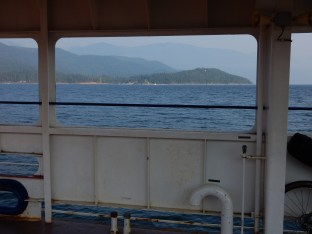 One of the View ports frames a vista south from the Balfour ferry.