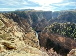 End of the Curacanti Creek Canyon at the Pioneer Point overlook.