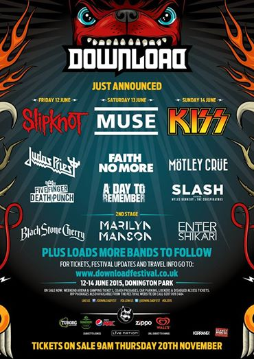 Download Festival Add KISS, Motley Crue, Slash, Enter