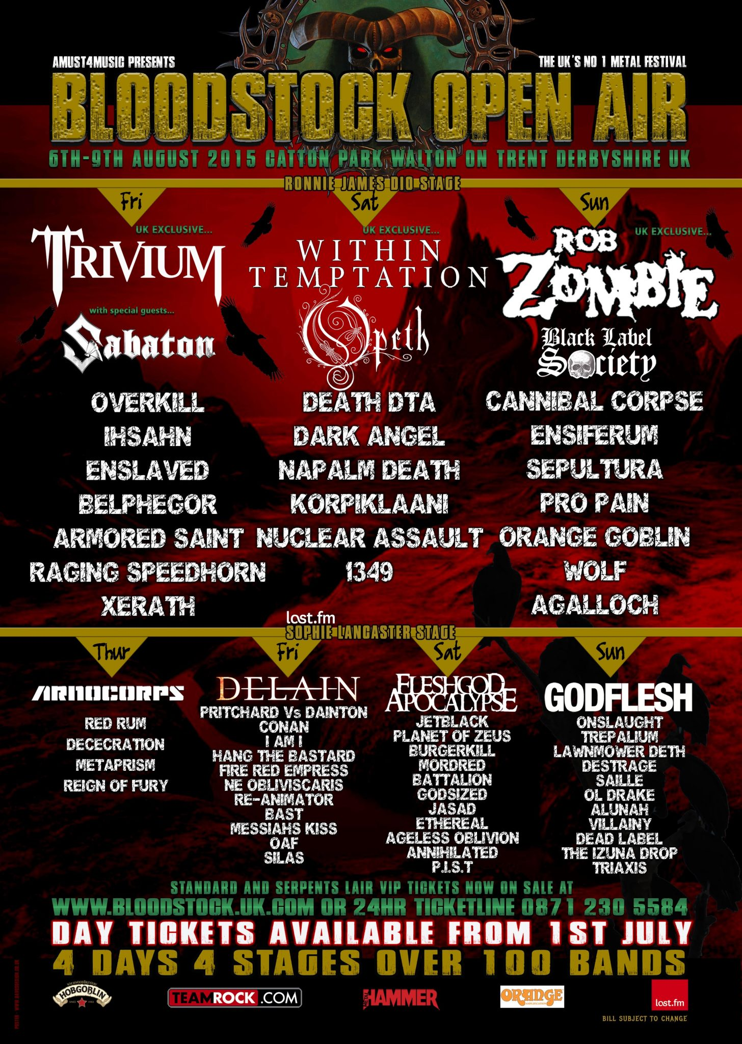 Bloodstock Festival: Day Three - Catton Hall, UK | Ghost Cult Magazine
