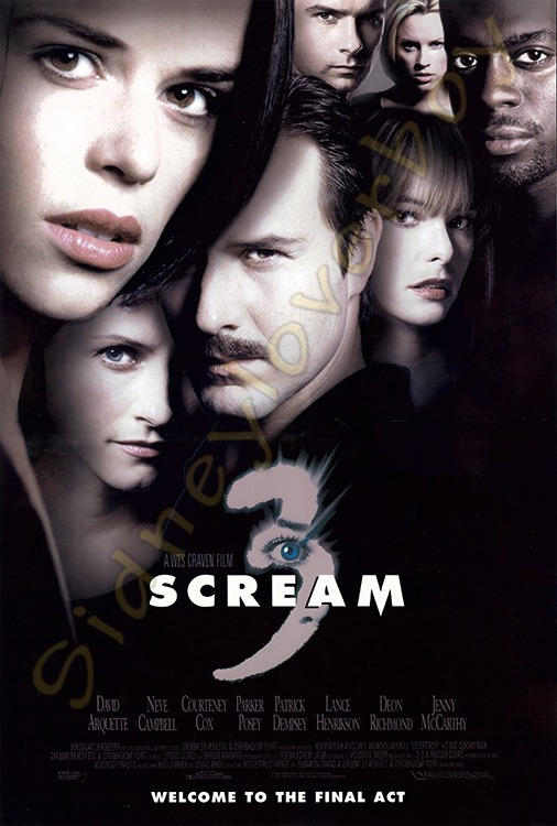 Scream 3 Poster Design Concepts Ghostface The Icon Of The